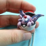 Espeon in a pokeball by Loreleiwave