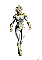 Powergirl Confident in Gold by adamantis