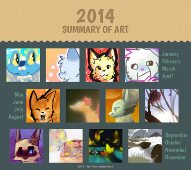 Cotton's 2014 Art Summary by koiiqueen