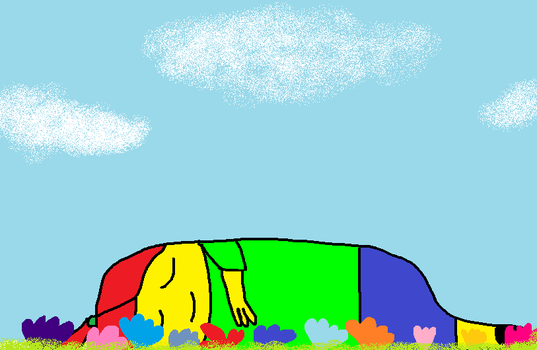 Napping in a flower field by RusherLily