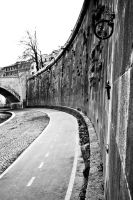 Lungotevere cycle street 2 by Masojiro