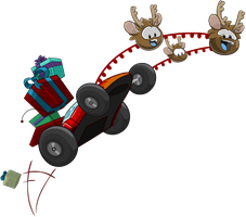 Club Penguin Holiday Party 2012 - Reindeer Puffles by Elliott-Lee-Blogger