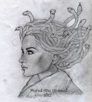 A sketch of Medusa by Art-lover-murad