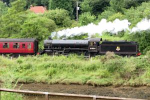 BLACK 5  on the out of WHITBY NYMR, by Sceptre63
