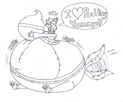 Giftart: Bloaty Millis Loves Chocolate Pudding by dragovian15