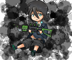 attempt at a chibi by CLJ199