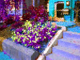 Pixelated Petunia Garden by Urceola