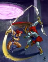 lion-O vs Mum ra by IDELION