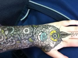 Henna pattern arm 2 by spirit0407