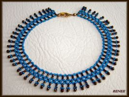 Bronze and turquoise collar by jasmin7