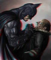 Batman and Penguin 3-D conversion by MVRamsey