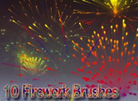 10 Firework Brushes by Globaludodesign