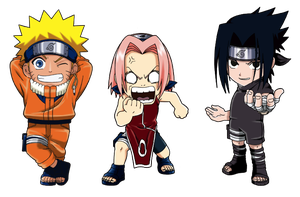 Naruto Team 7 Chibi by Skurpix
