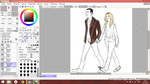 9th Doctor and Rose (STILL in progress :D) by KiraWinchester
