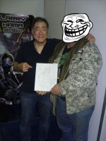 Me and LARRY HAMA father of  G.I.JOE, Mexico city by piojote