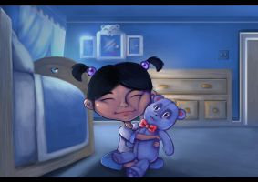 just girl with her teddy bear by Artzmat