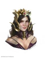 Liliana of the Veil alternate costume by merkymerx