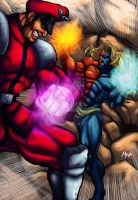 Street Fighter bosses in Epic Battle by Shayeragal