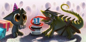 Happy 11th Birthday by Pepe-Navarro