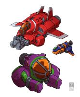 Space Ships by Dadrick