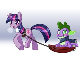 pony sleigh ride by rongs1234