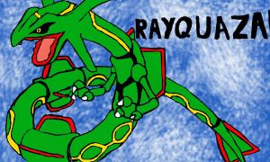 Rayquaza: Colors! 3D by wererapter-nelson