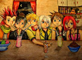 Kingdom hearts Gang by bunnyrabb567
