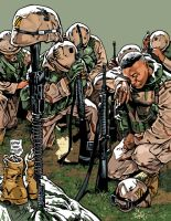 SOLDIERS PRAY FOR THE FALLEN by MalevolentNate