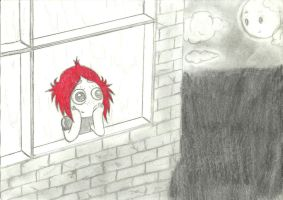 ruby staring outside by I-P-GLOOM-V-O-D
