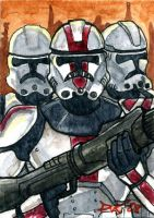 Clone Troopers Sketch Card by DKuang