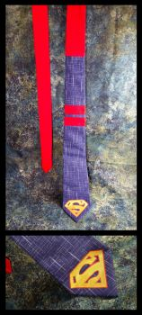 Superman Tie by MoltenCoeur