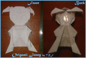 Origami Jenny by teenagerobotfan777
