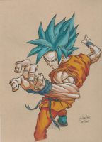Goku new style by JustGeoffsArt