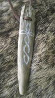 Knotwork Antler Pendant by Troll-Blood