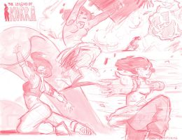 SATURDAY (more pink korra sketches) by supremedrae