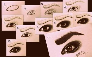 Easy Tutorial: Eyes by xw483