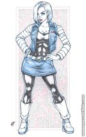 Android 18 blueline bodyshot pencils by gb2k
