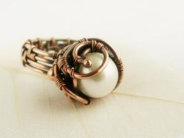 Wire Ring Pearl by UrsulaOT