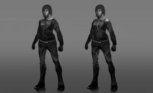 Characters concept sketch female by Ron-faure