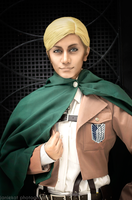 Commander Erwin Smith of the Scouting Legion by wisecraxx