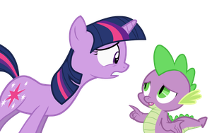 Twilight and Spike Vector 2 by AppleFallsPonies