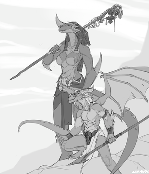 Hunter and Mage by Zummeng
