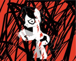 Jeff the Killer - Pony-ified by WarriorSparrow