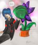 Dark's pet plant :3 by Titanium-Zen