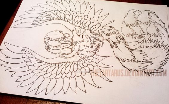 PHOENIX Tattoo Design WIP.2 by TheTartarus