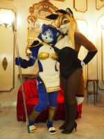 Krystal and bunny Lisa by Aoi-the-kitsune