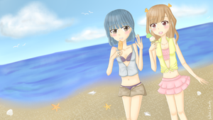 Toffee and Berry: Summer- Beach and Ice-cream!!! by ShiraKyandii