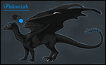 Philonriath: Black Pern Dragon: Gift by JadeRavenwing