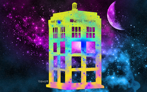 TARDIS Colour Burst by tjevo9