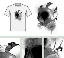 Gasmask TSHirt Preview by 3rror404